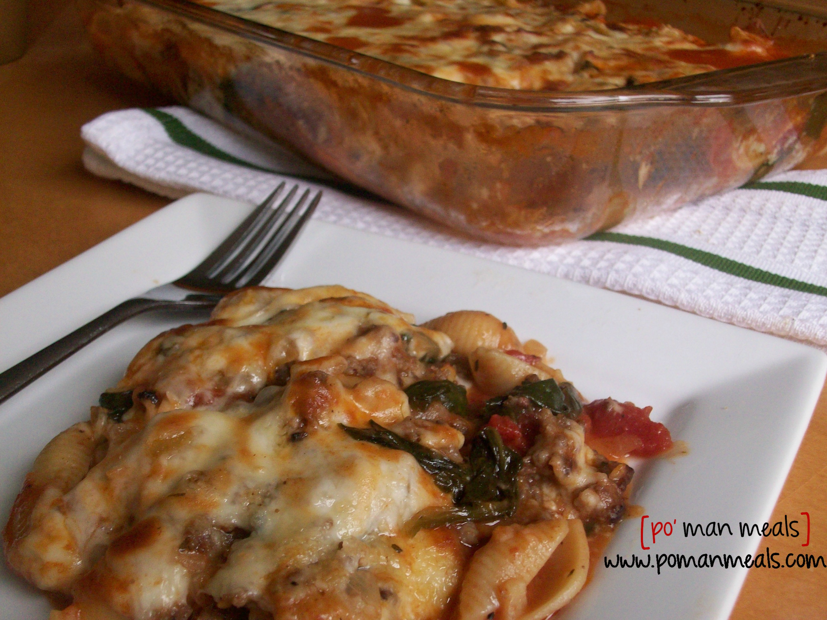 Baked Pasta With Sausage And Spinach Recipe — Dishmaps