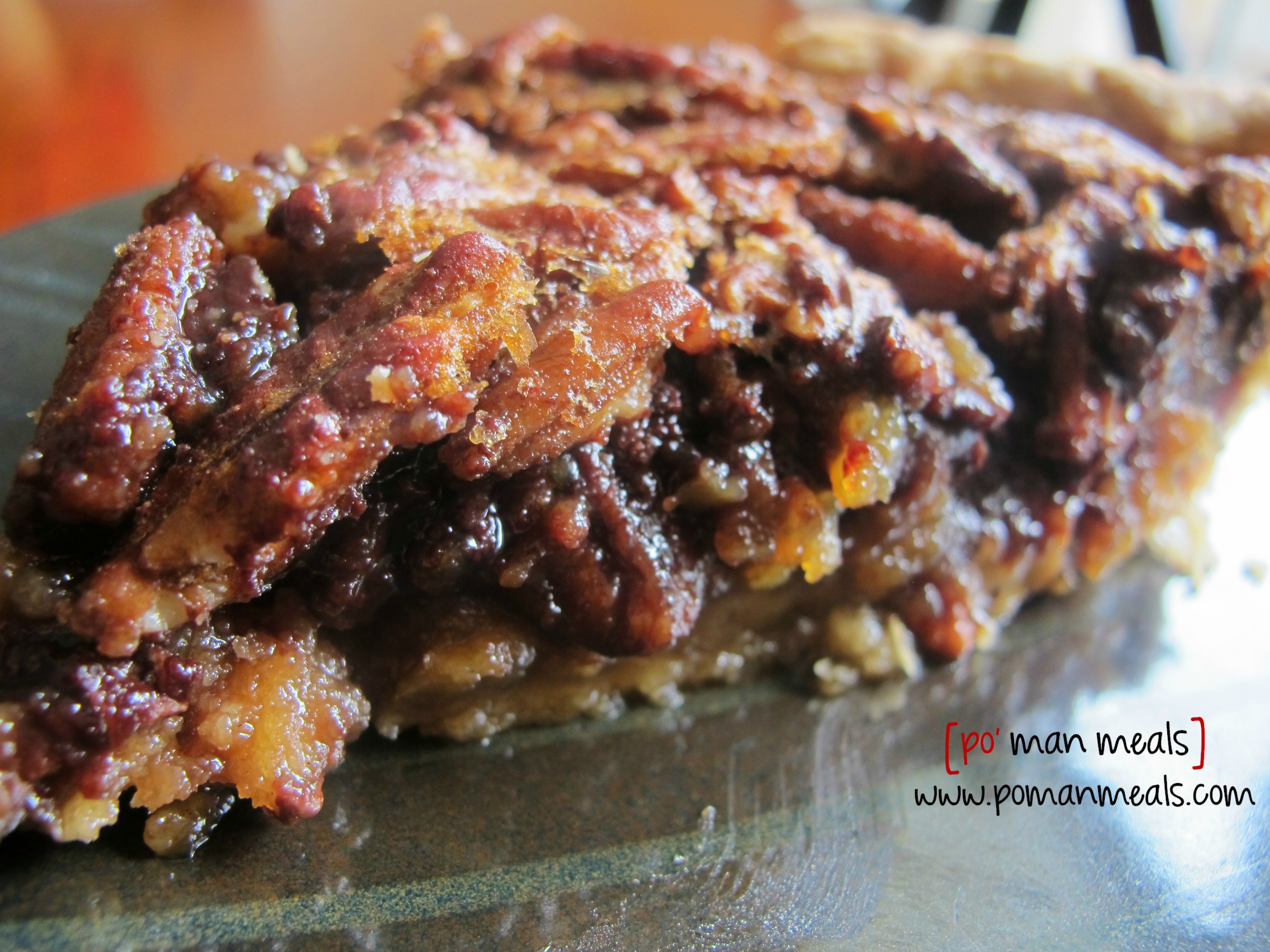 po' man meals - pecan and chocolate chip pie