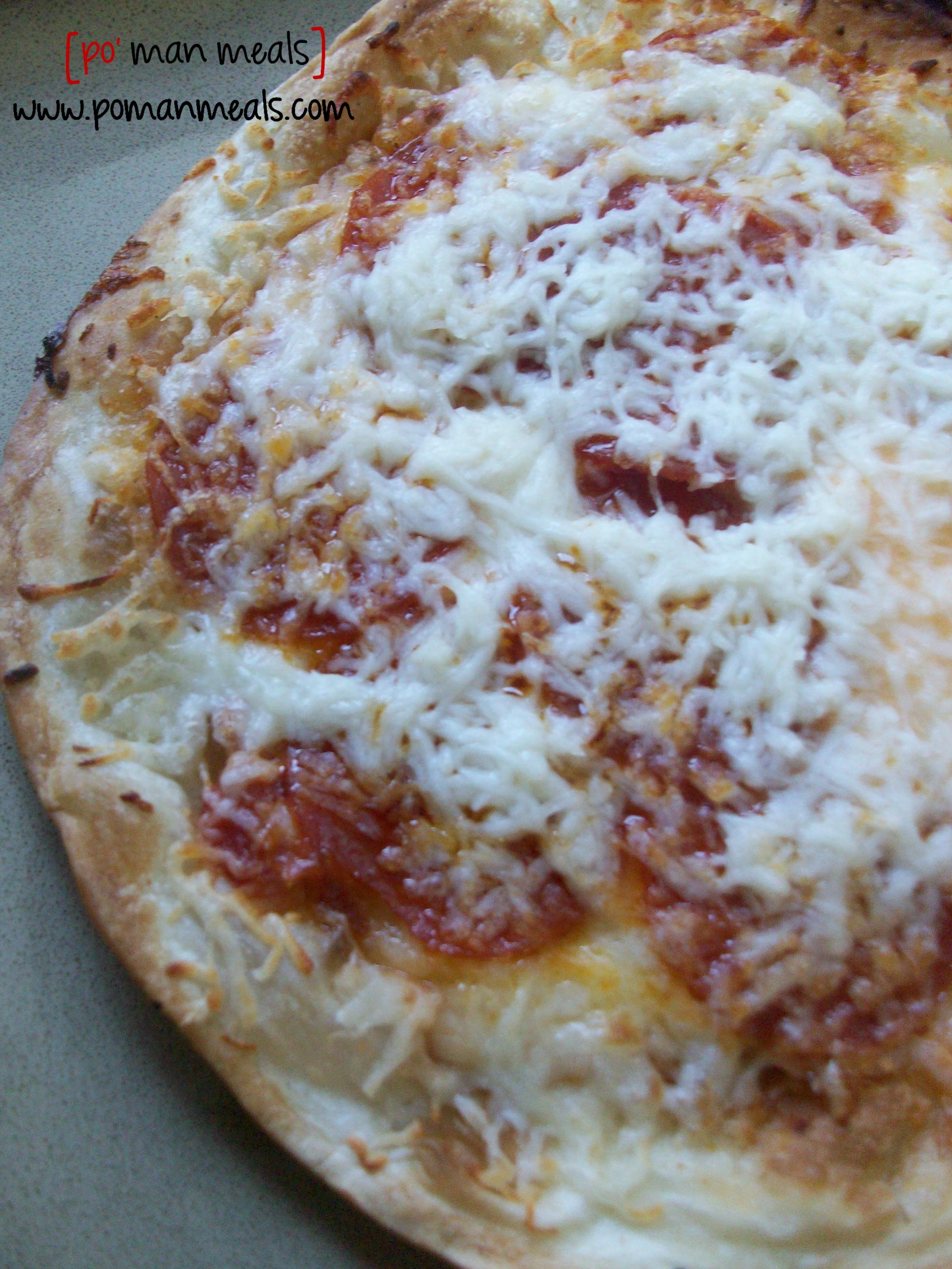 po' man meals - tortilla pizzas