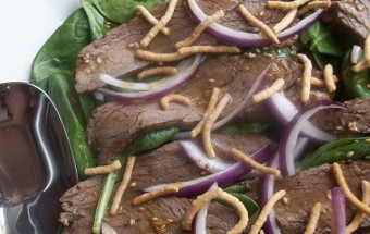 flank steak with sesame dressing
