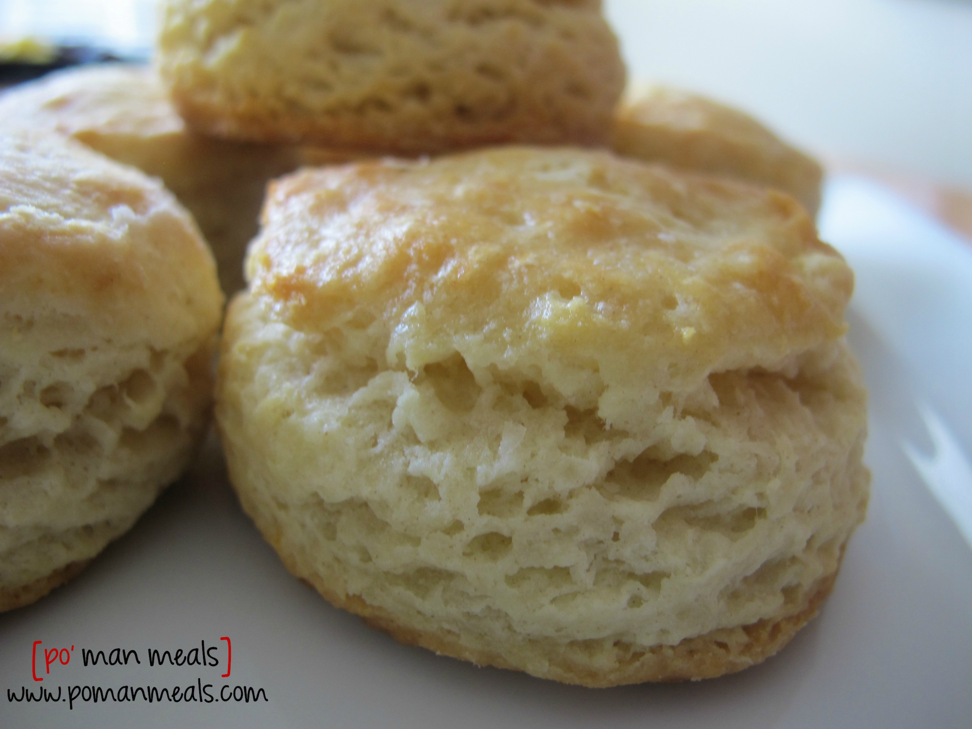 po' man meals - homemade buttermilk biscuits