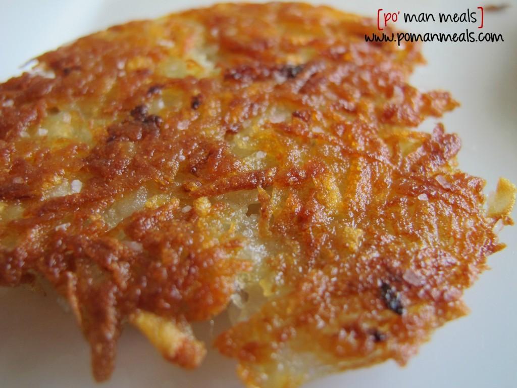 po' man meals - crunchy potato cakes