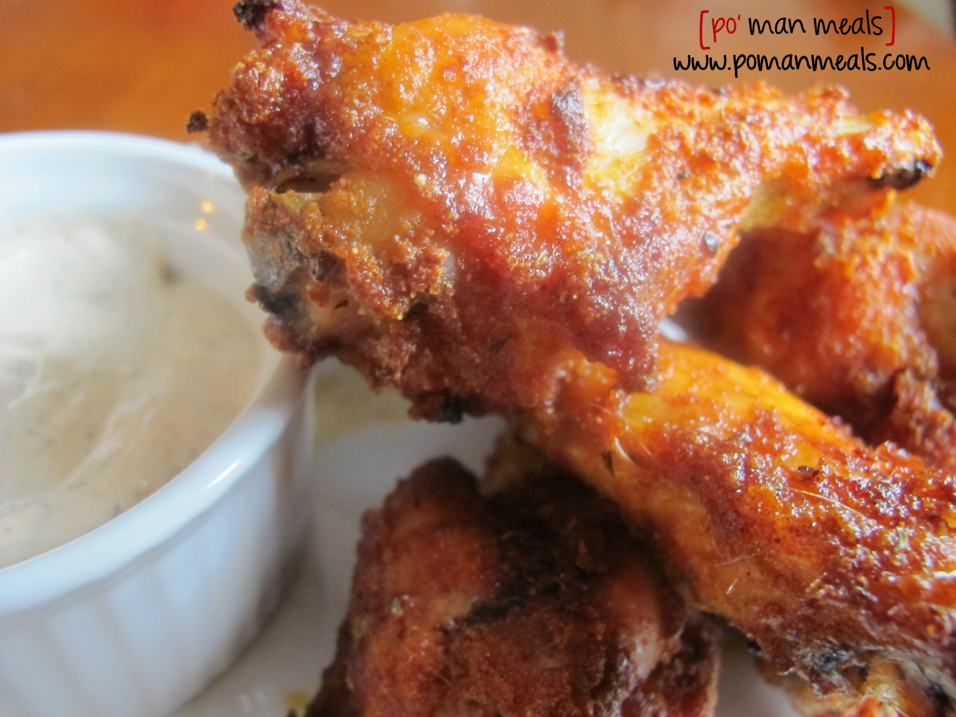 po' man meals - baked sweet and spicy chicken wings with ...