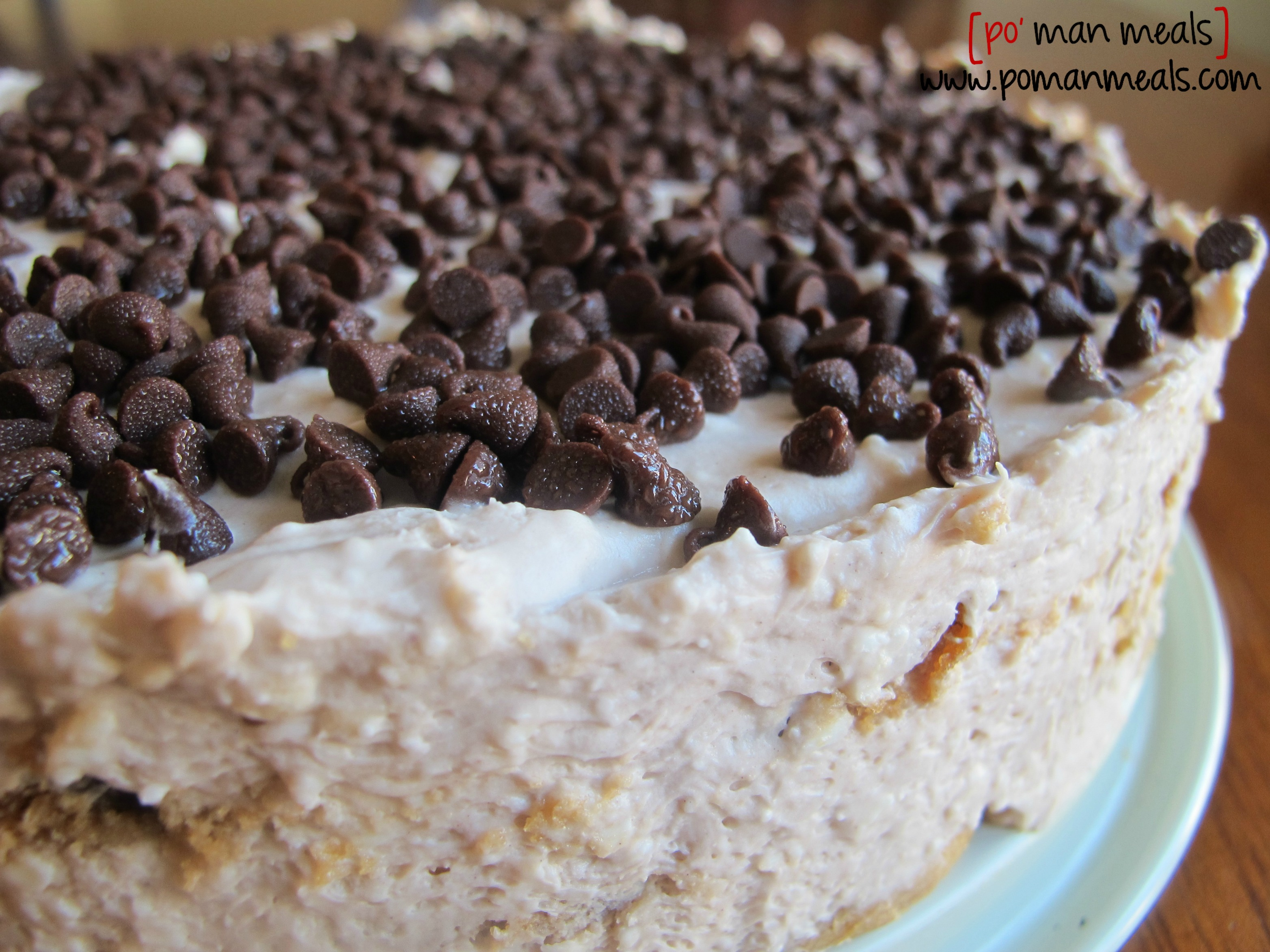po' man meals - chocolate chip icebox cake