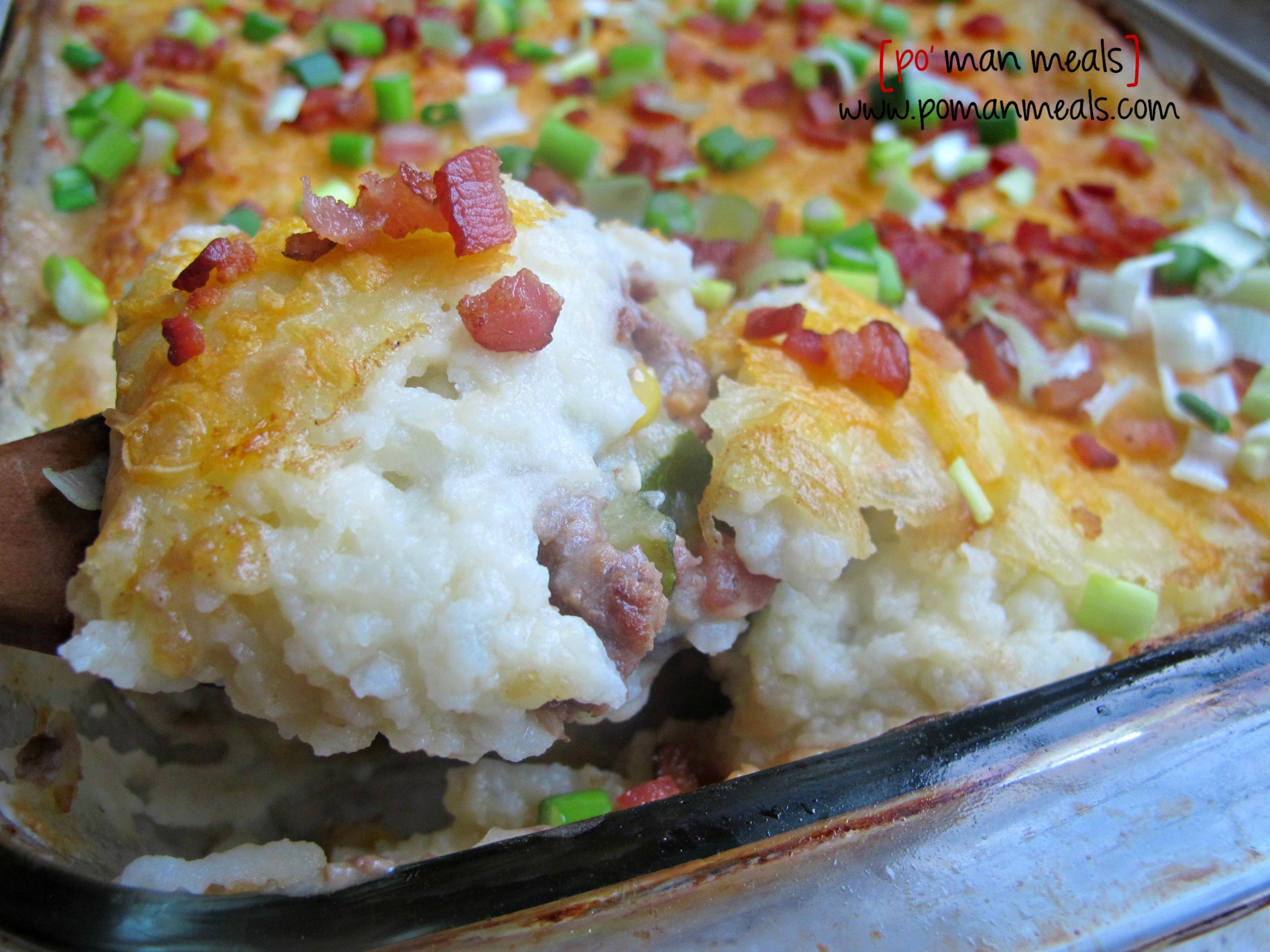 po' man meals - loaded shepherd's pie